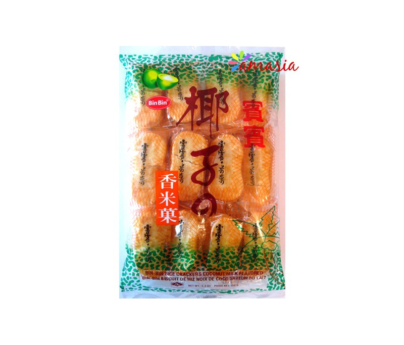 BINBIN Biscuit de riz au goût de noix de coco
