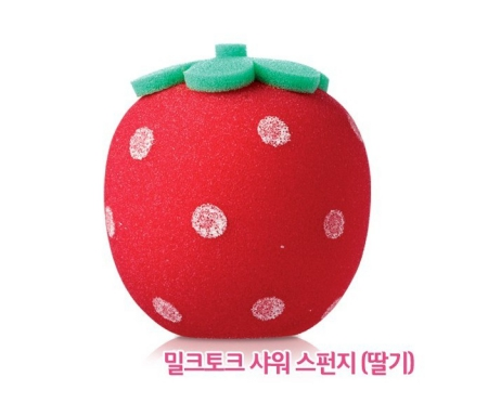 Etude House milk talk shower sponge strawberry