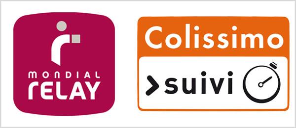 Livraison Mondial Relay et Colissimo