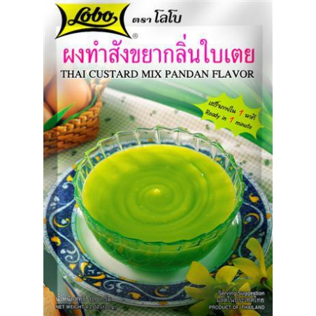 LOBO Thai Custard Saveur Mix Pandan 120g